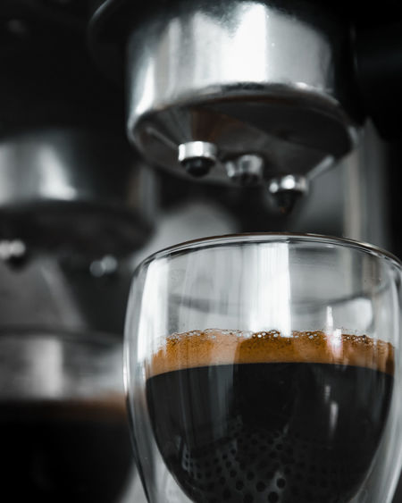 Morning Espresso EyeEm Best Shots EyeEmNewHere EyeEm Nature Lover EyeEm Selects EyeEm Gallery Nikon D750 Concept Conceptual Focus On Background Sharp Dark Photography Moon Surface Tripod Toronto Ontario Canada Canadian Best  Fresh New Food And Drink Drink Refreshment Coffee Coffee - Drink Indoors  Close-up Freshness Glass Coffee Maker No People Household Equipment Cup Mug Still Life Appliance Focus On Foreground Coffee Cup Drinking Glass Preparation  Froth Espresso Cream