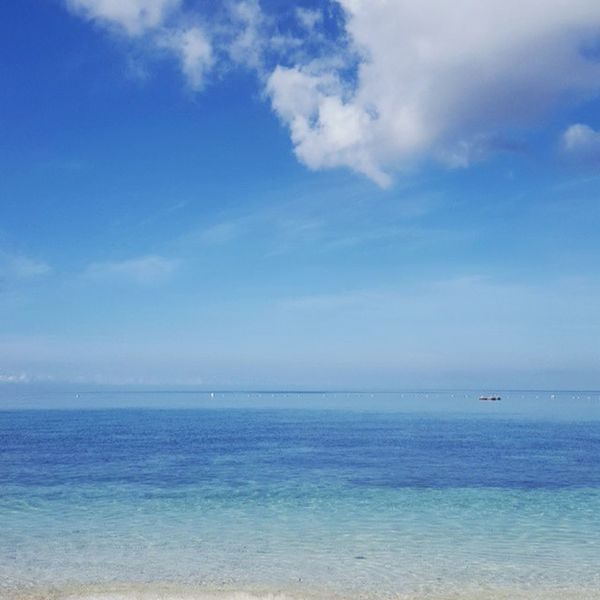 Goodmorning indeed. Sea Sea And Sky Seascape Seaside Seashore Waterscape Blue Sky Simple Photography Stockphotography Siquijorisland Siquijor Philippines