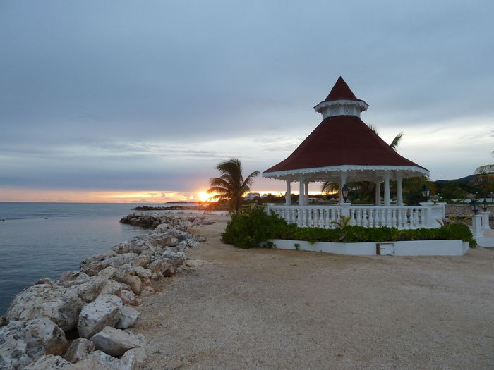 Travel Tourism Architecture Sky Water Sea Tropical Climate Sunset Sunset Jamaican Style
