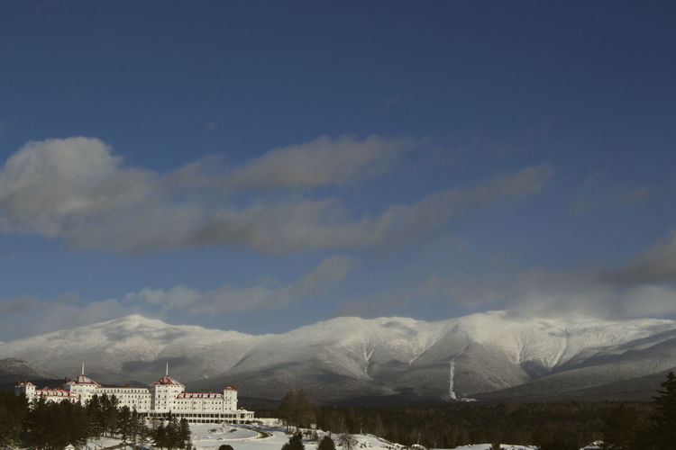 Bretton Woods Mount Washington  Mt Washington Winter Architecture Beauty In Nature Building Exterior Built Structure Cloud - Sky Clouds Cog Railway Day Mount Washington Hotel Mountain Mountains Nature New Hampshire No People Outdoors Sky Snow White Mountains