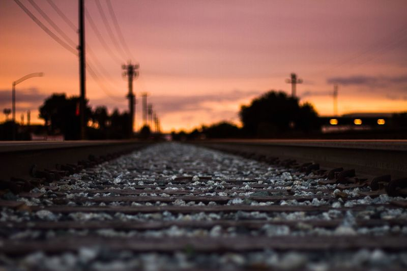 Railroad tracks First Eyeem Photo Railroad Track Sunset #sun #clouds #skylovers #sky #nature #beautifulinnature #naturalbeauty #photography #landscape Canon7d  Canonphotography California WestCoast Bay Area Morganhill California Sunset EyeEmNewHere