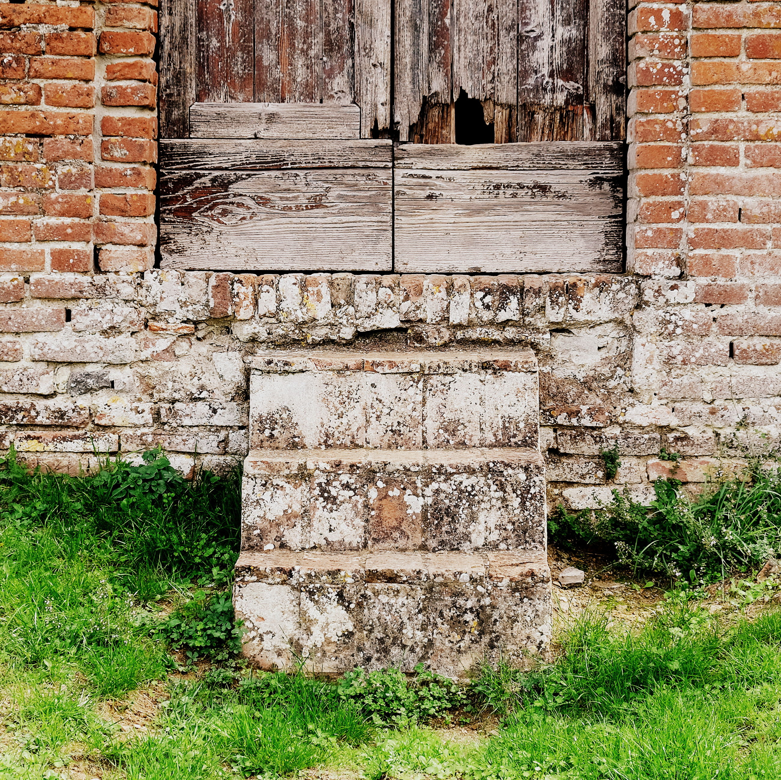 architecture, built structure, wall, brick wall, brick, wall - building feature, grass, no people, day, old, building exterior, plant, history, outdoors, weathered, field, nature, the past, damaged, solid, stone wall, deterioration