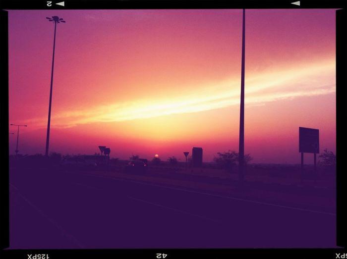 Sunset Sending Vibrant Colours...