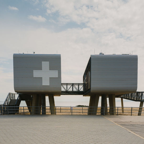 Architecture Beach Built Structure Coney Island Cube Day New York Outdoors Safety