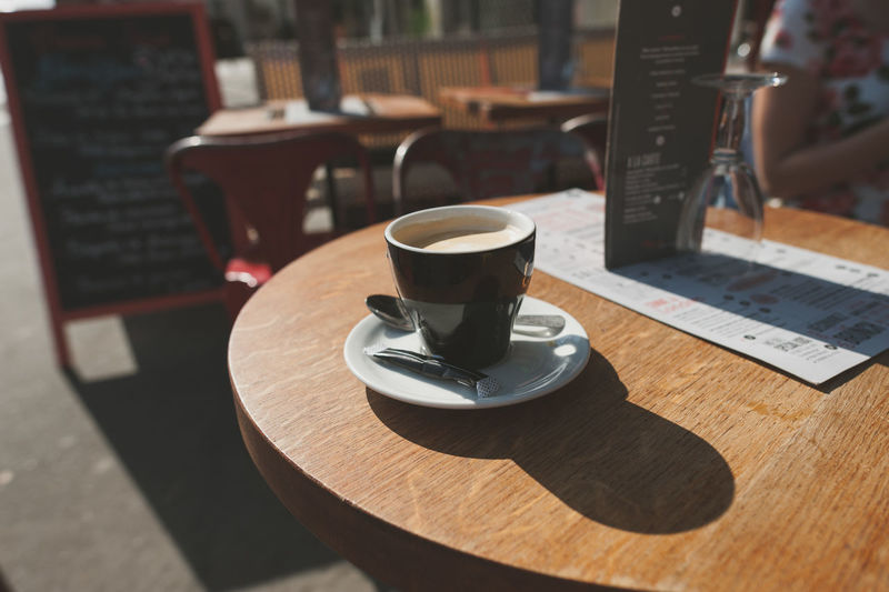 Arrangement Business Coffee Coffee - Drink Coffee Cup Composition Cup Directly Above Drink Food And Drink Freshness Frothy Drink Home Indoors  Music Perspective Preparation  Refreshment Saucer Spoon Still Life Table