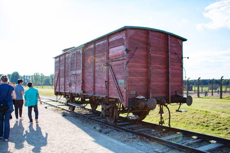 Rail Transportation Sky Train Railroad Track Rear View Train - Vehicle Track