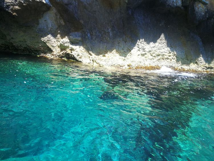 Beauty In Nature Nature Outdoors Wave No People Close-up Scenic White Sand Malta No Edit No Filter Cerulean Blue Vacations Travel Destinations Beautiful Sea Cleanness Waves And Rocks