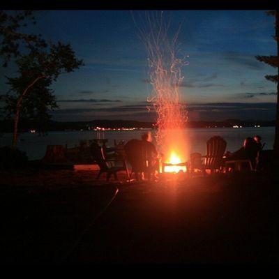 Campfire last night on Bearisland Lakelife Lakewinni newhampshire rei1440project islandlife