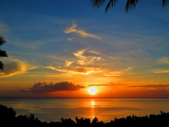 French Polynesia South Pacific Beauty In Nature Cloud - Sky Nature No People Outdoors Scenics - Nature Sky Sunset Tahiti Teahupoo Tranquil Scene Tranquility Go Higher Summer Exploratorium