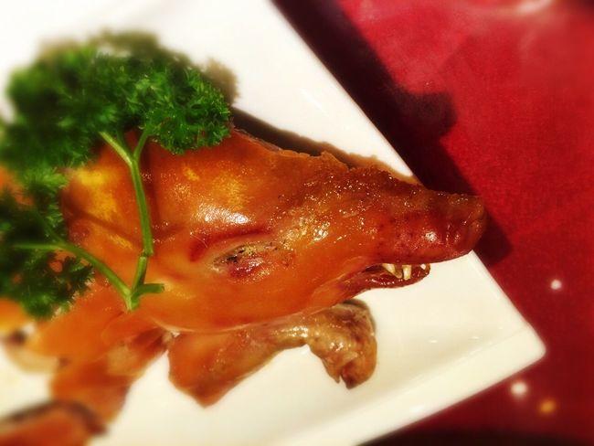 Food Porn Pig Head Roasted
