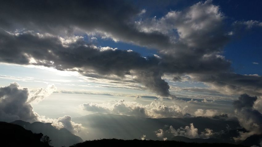 Guiding Lights .. Outdoors Sky Mountain Cloud - Sky Landscape Nature Beauty In Nature Cold Temperature No People Day Winter