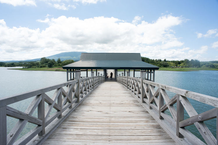 鶴の舞橋 陸奥鶴田 鶴の舞橋 東北応援 日本 Nikon Pier Water Beach Sea Wood - Material Vacations Cloud - Sky