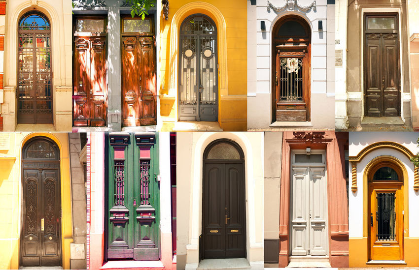 collage of old doors Arch Architecture Building Exterior Built Structure Close-up Day Door No People Outdoors Window