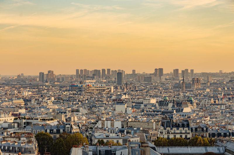 Sunset from montmartre paris