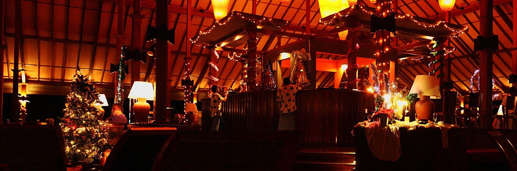 Cristmas Lights Night Lights Restaurant Resort