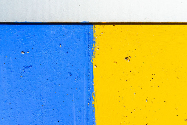 Full frame shot of yellow painted wall