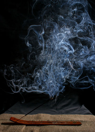 Close-up of emitting smoke