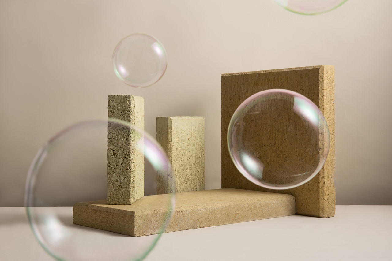 Close-up of bubbles on table