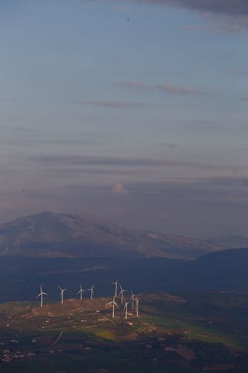 Wind Energy Wind Turbine Wind Power Beauty In Nature Day Eolic Eolic Park Eolic Towers Eolicas Eolicenergy Eoliche Eolico  Fuel And Power Generation Industrial Windmill Landscape Mountain No People Pale Eoliche Scenics Sky Wind Farm Wind Power Wind Turbine Wind Turbines Windmill