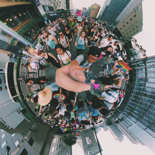 360 Panorama Tiny Planet Seoul Queer Festival Queer Parade