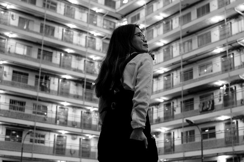 Step It Up Women Lifestyles Smiling Perspective Capture The Moment Portrait Uniqueness People And Places Cityscape Portrait Photography Fashion Black And White Blackandwhite Blackandwhite Photography Eye4photography  EyeEm Gallery