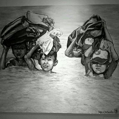 """""""Ini Jakarta, bung!"""" (Lukisan Bung Yayak) Jakarta Sesuatu Bw"""