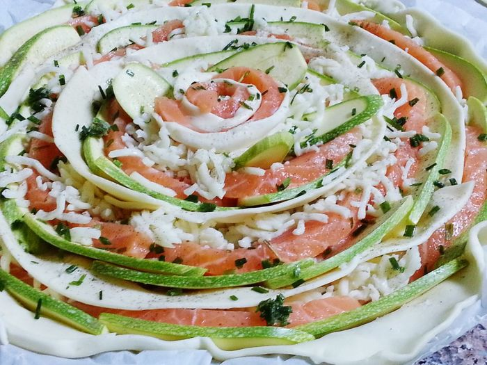 Ready-to-eat Food Freshness Take A Break Eyeemfoodlover Beauty In Nature Italian Food EyeEmItaly Pictures By Me Welcome To My Eyeem Serving Size Food And Drink Plate Salmon Colored Green Color Pink Healty Eating