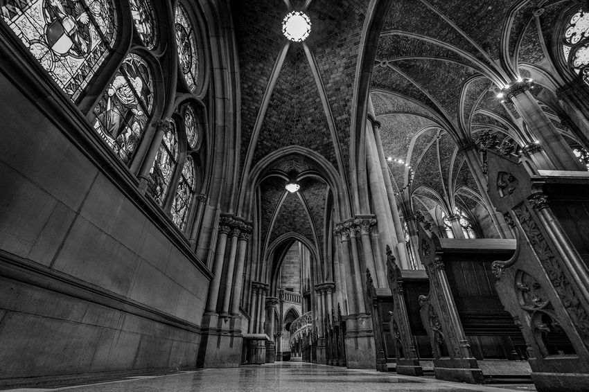 wonderful memorial church - Speyer / Germany Steffographie Black And White Blackandwhite Blackandwhite Photography Inside Church Fujifilm FUJIFILM X-T2 Architecture Deep