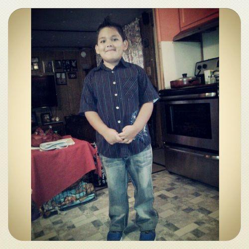 My handsome boy! Schoolpics Pictureday Hairgel Spikes growingup