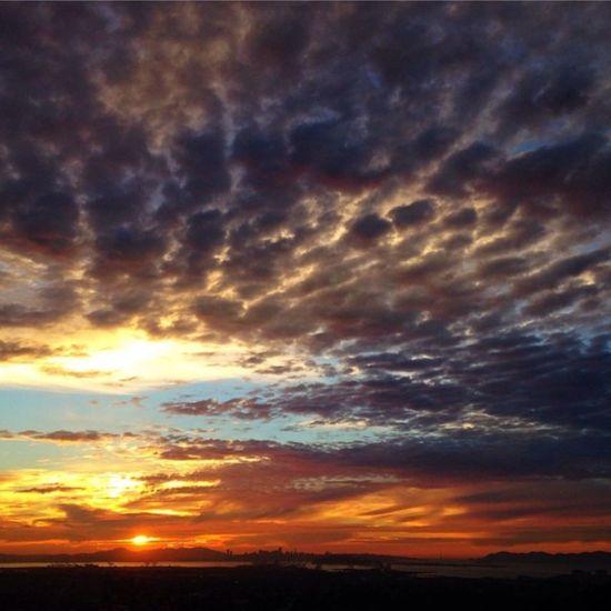Sunset Scenics Tranquil Scene Beauty In Nature Landscape Tranquility Cloud - Sky Orange Color Idyllic Sun Nature Sky Cloud Majestic Cloudscape Dramatic Sky Field Atmospheric Mood Sunbeam Outdoors