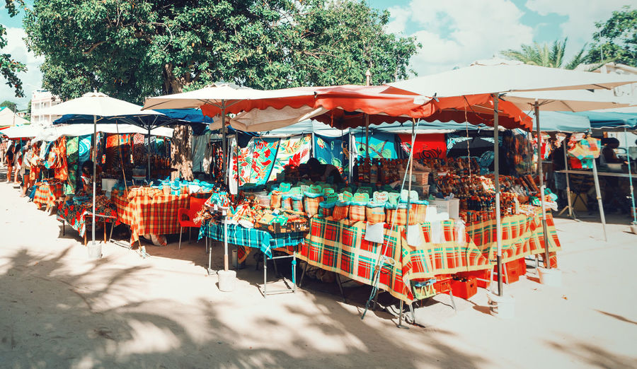 View of market stall outdoors