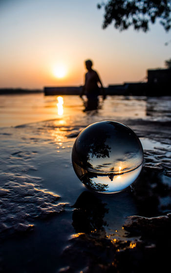The Up Side Down Water Astronomy Sea Sunset Beach Swimming Silhouette Reflection Crystal Ball Dusk Planetary Moon Wave Crashing Shore Surfer Horizon Over Water Seascape Surf Tide A New Beginning