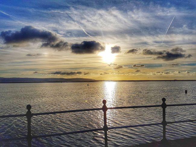 Sea Sky Water Sunset Cloud - Sky Horizon Over Water Beach No People