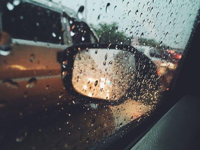 Rainy Season Window RainDrop Light And Shadow