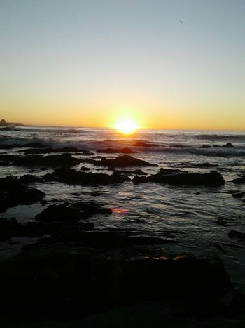Sunset Sea Beauty In Nature Beach Scenics Outdoors Water Dramatic Sky Horizon Over Water Tranquility Travel Destinations Coastal Feature Sand Wave Tranquil Scene Sky Nature Sun Landscape Sea Point Cape Town