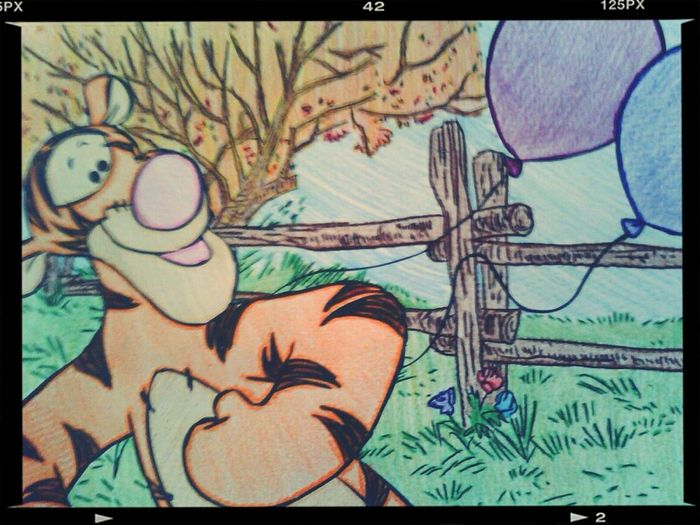 the picture I colored (: