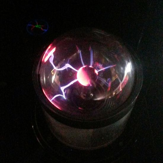 Futuristic No People Illuminated Astronomy Star - Space Night Close-up Galaxy Space Technology Plasma Lamp Plasma