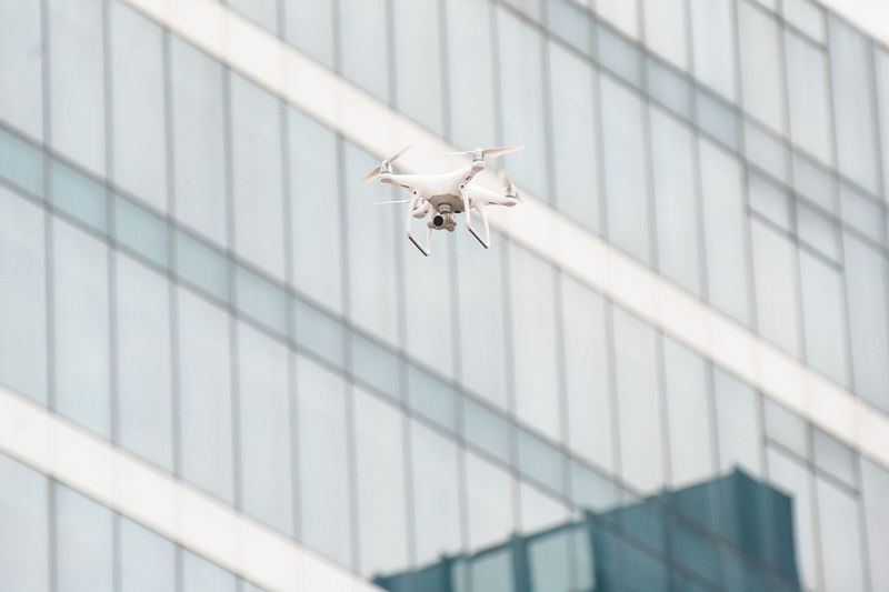 Low Angle View Of Drone