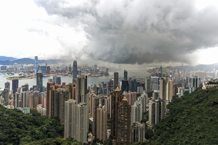 Hong Kong at sunset, from the Victoria Peak Architecture ASIA Built Structure China City City Life Cityscape Cloud Cloud - Sky Cloudy Financial District  Growth Hong Kong Modern Mrt MTR Hong Kong Office Building Outdoors Residential District Sky Skyscraper Tall - High Urban Skyline Victoria Harbour Victoria Peak, Hongkong