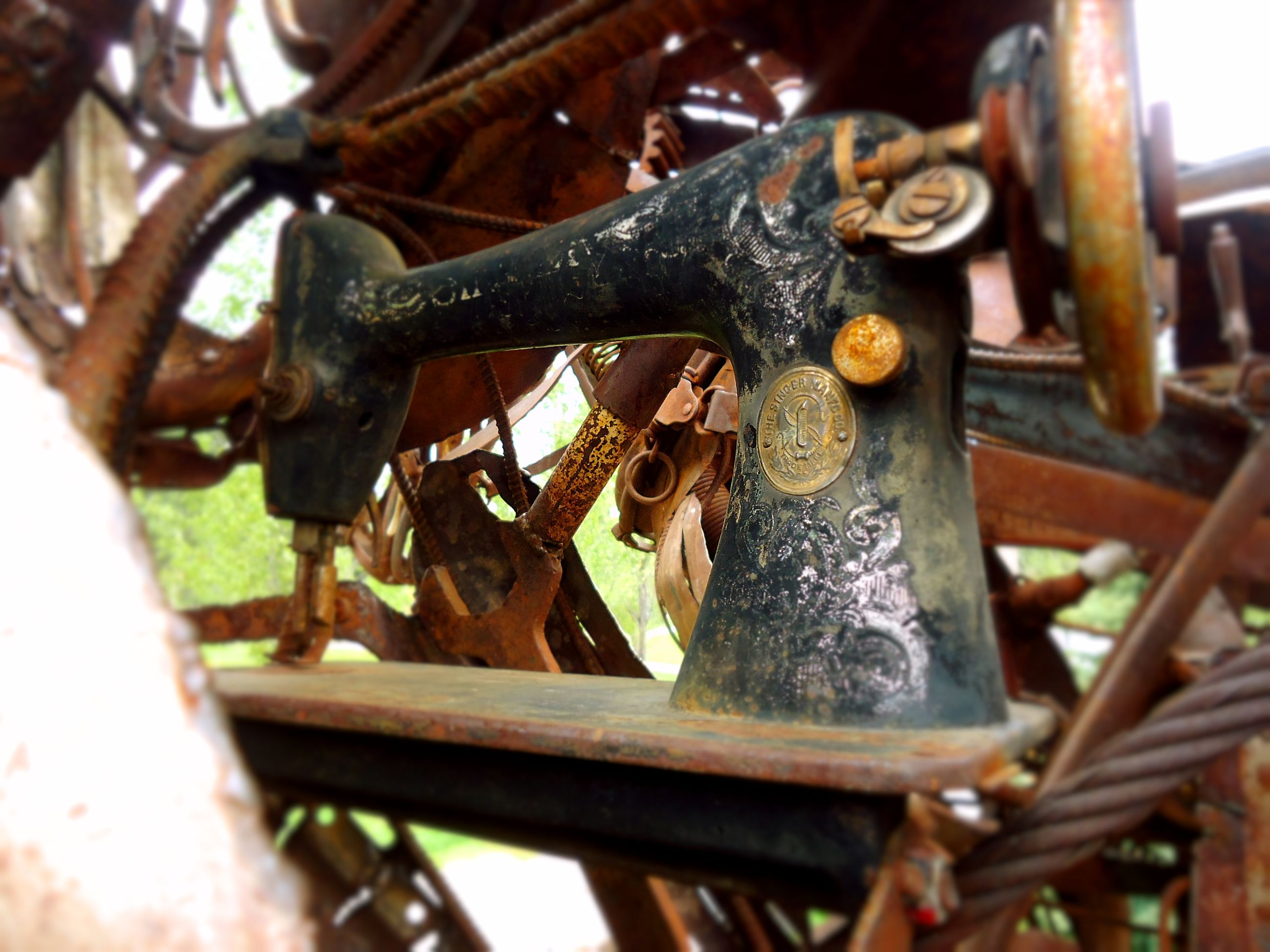metal, rusty, machinery, no people, abandoned, close-up, day, outdoors