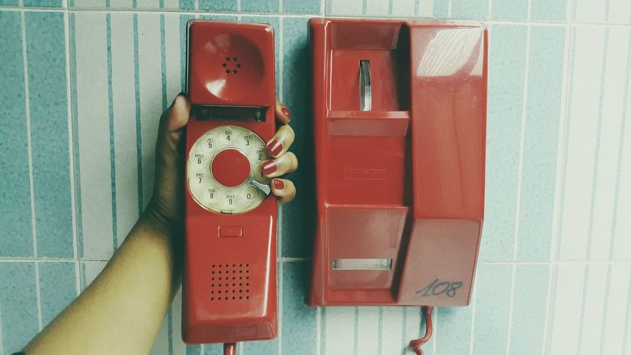 Old School Red Vintage Phone Followme Follow4follow Follow Me I'll Follow Back IvoryCoast EyeEmNewHere
