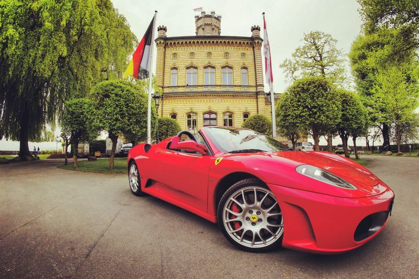 Luxury Luxurylifestyle  Luxurycars Ferrari F430 City Tree Red Politics And Government Land Vehicle Car Architecture Sky Historic Historic Building History