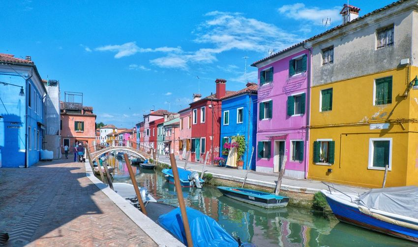 EyeEm Selects Burano, Italy Burano Italy Colorful Vibrant Travel Destinations Outdoors Water The Week On EyeEm EyeEmNewHere Summer Clear Sky Photography Wunderlust FollowMeOnInstagram City Cloud - Sky Sky Adventures In The City