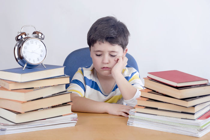 Learning Read Stress Student Unhappy Back To School Book Boredom Boring Child Classroom Clock Education Exam Expression Learn Learning Sad Sadness School Schoolboy Studying Time
